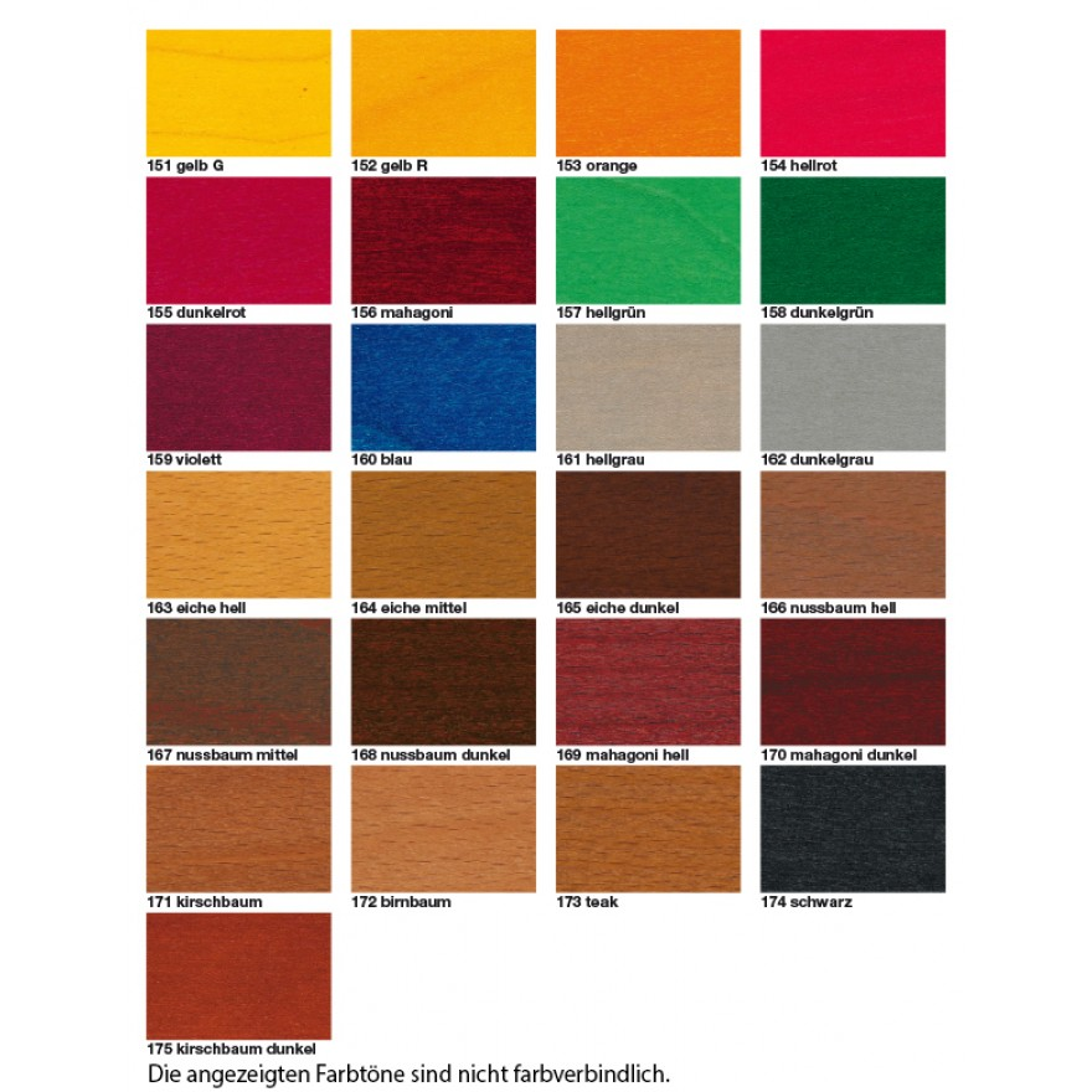 Holz Beizen Farben wasserbeize im pulver 5gr dose 1000gr